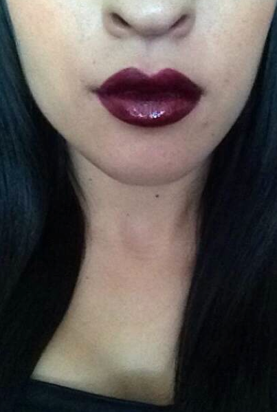 media lipstick mac glossy purple